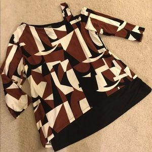 Chicos Travelers Layered tunic top size 2